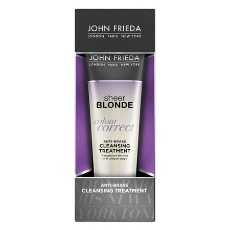 John Frieda Sheer Blonde Colour Correct Anti-Brass Cleansing Treatment, 4