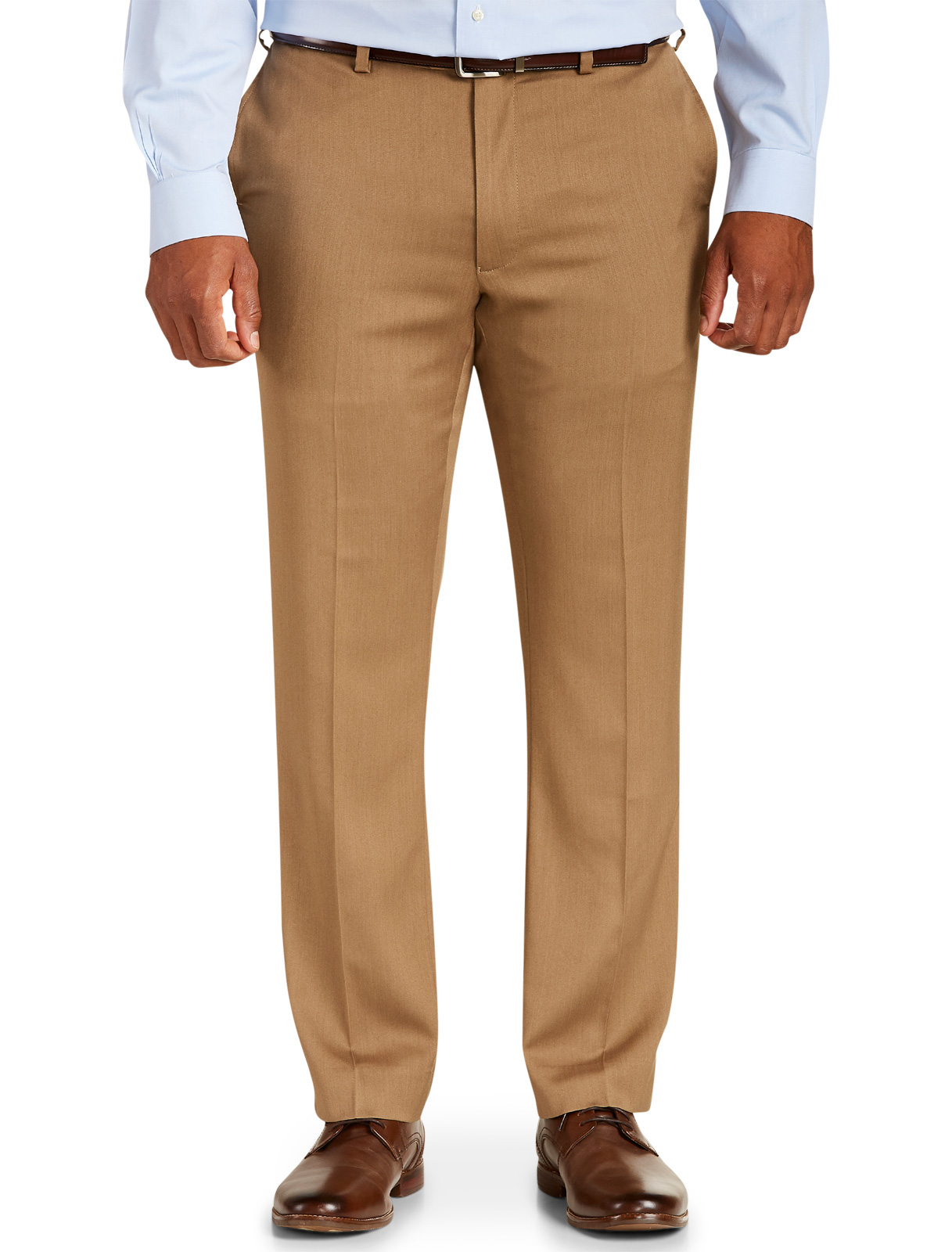 Men's Big & Tall Gold Series Perfect Fit Waist-Relaxer Suit Pants – Unhemmed