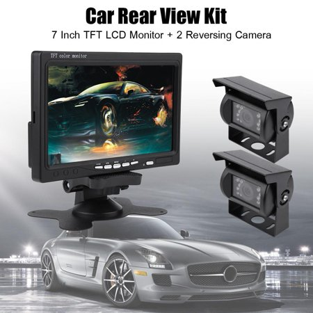 Yosoo 7 Inch Parking Monitor LCD Monitor Reversing Camera TFT Monitor Car  Rear View Backup Reversing Camera Night Vision for RV Bus Truck
