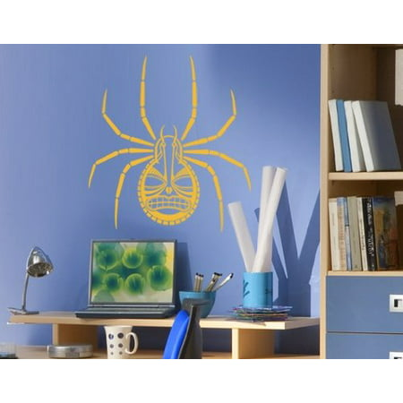 Abstract Spider Wall Decal - Halloween wall decal, sticker, mural vinyl art home decor - 1112 - White, 12in x 13in - Halloween Home Decor Walmart