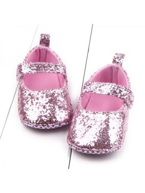 2ecf3cc4c912 Product Image Ropalia Baby Girl Sequins Glitter Crib Shoes Soft Sole  Slip-On Shoes