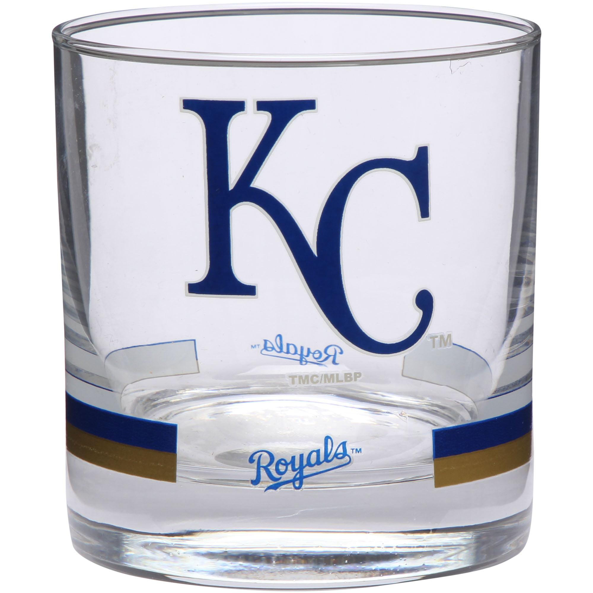 Kansas City Royals Banded Rocks Glass - No Size