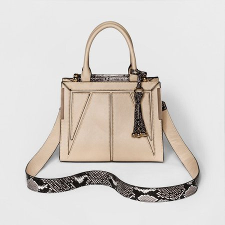 WOMEN'S CESCA MINI SATCHEL WITH TASSEL DETAILING - (Tan Mini Handbag)