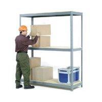 Nexel Industries WD4488 3 Tier Wide Span Steel Frame Storage Rack, Gray - 48 x 48 x 96 in.