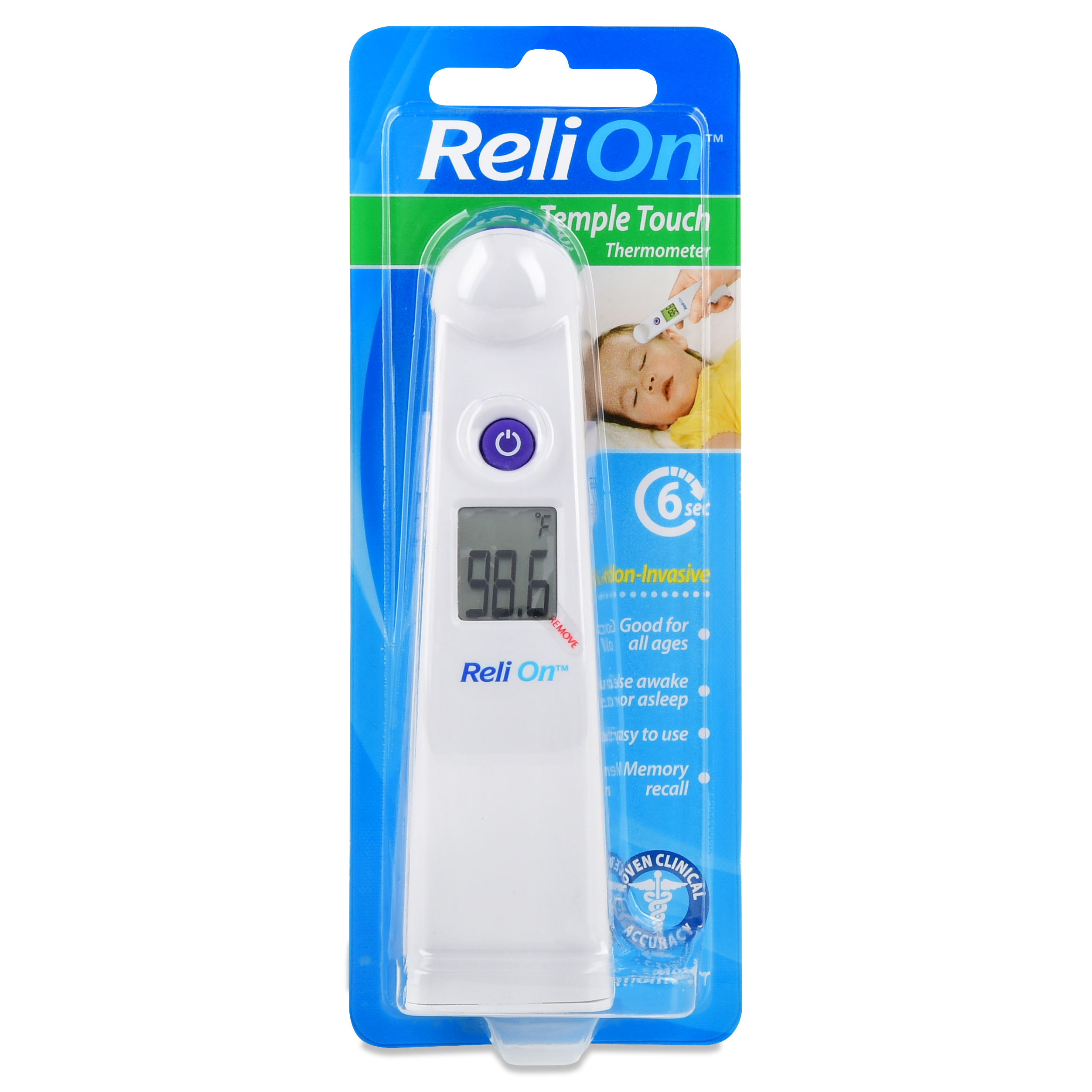 ReliOn Temple Touch Thermometer