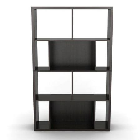 "Atlantic 58"" Monaco 4-Shelf Bookshelf and Media Storage Case, Espresso"