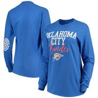 Oklahoma City Thunder Women's Elbow Patch Long Sleeve T-Shirt - Blue