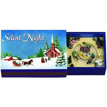 Mr. Christmas Gold Label Silent Night Melody Matchbox Melody Music Box, By Mr - Mr Christmas Gold Label Collection