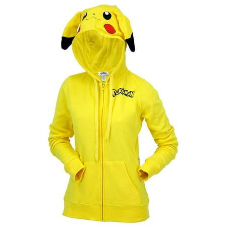 Pokemon Pikachu Juniors Costume Zip Up Hoodie](Pokemon Hoody)