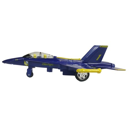 """Set of 6: 6.5"""" X-Planes US Navy F-18 Hornet Blue Angel Jet Diecast Toy Authentic"""