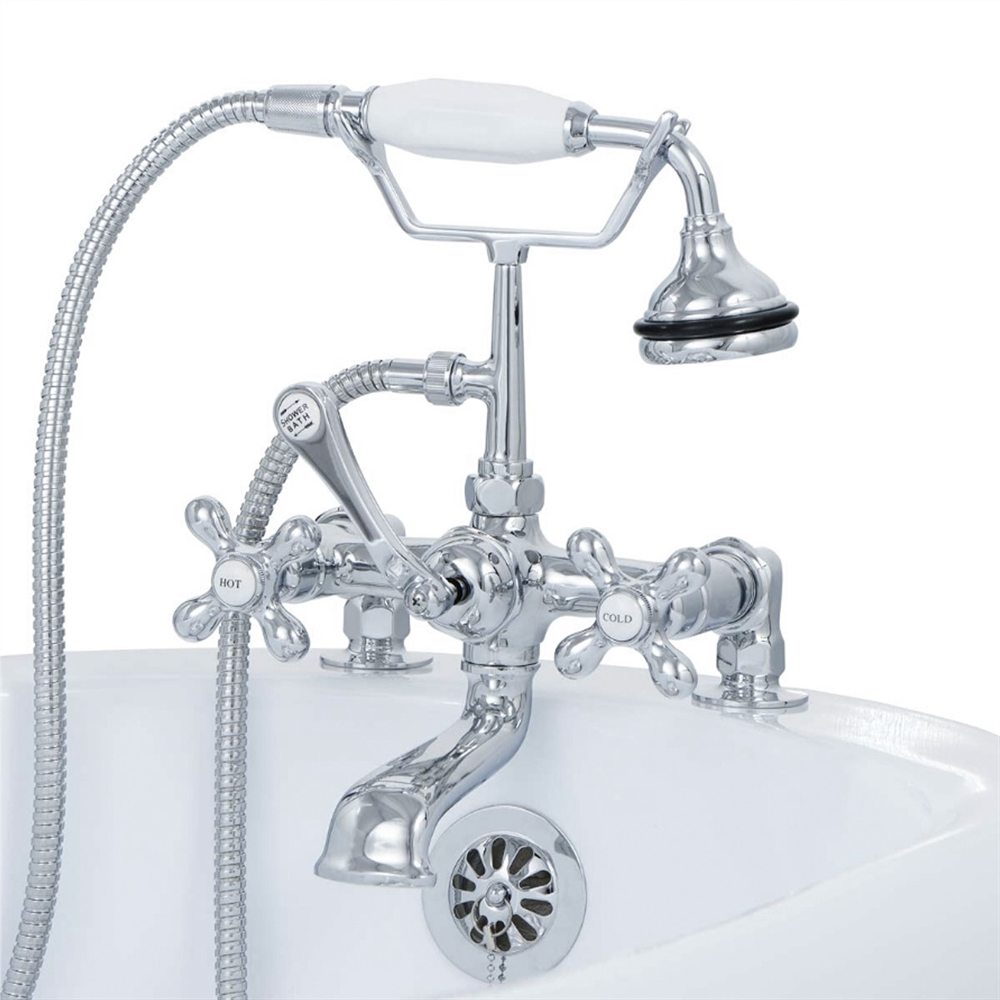 Cambridge Plumbing CAM463-2 Claw Foot Tub Faucet with Hand Held Shower