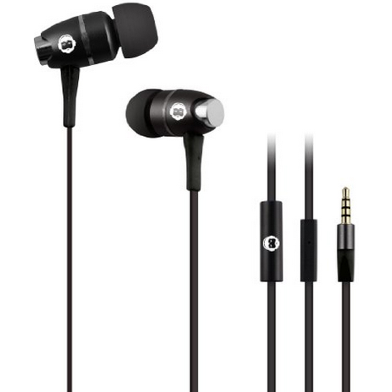 Brooklyn Headphone Company In-Ear Headphones with Mic - Black
