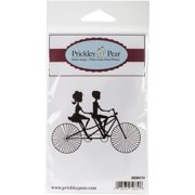 "Prickley Pear Cling Stamps 3.25""X3.25""-Bicycle Built For Two"