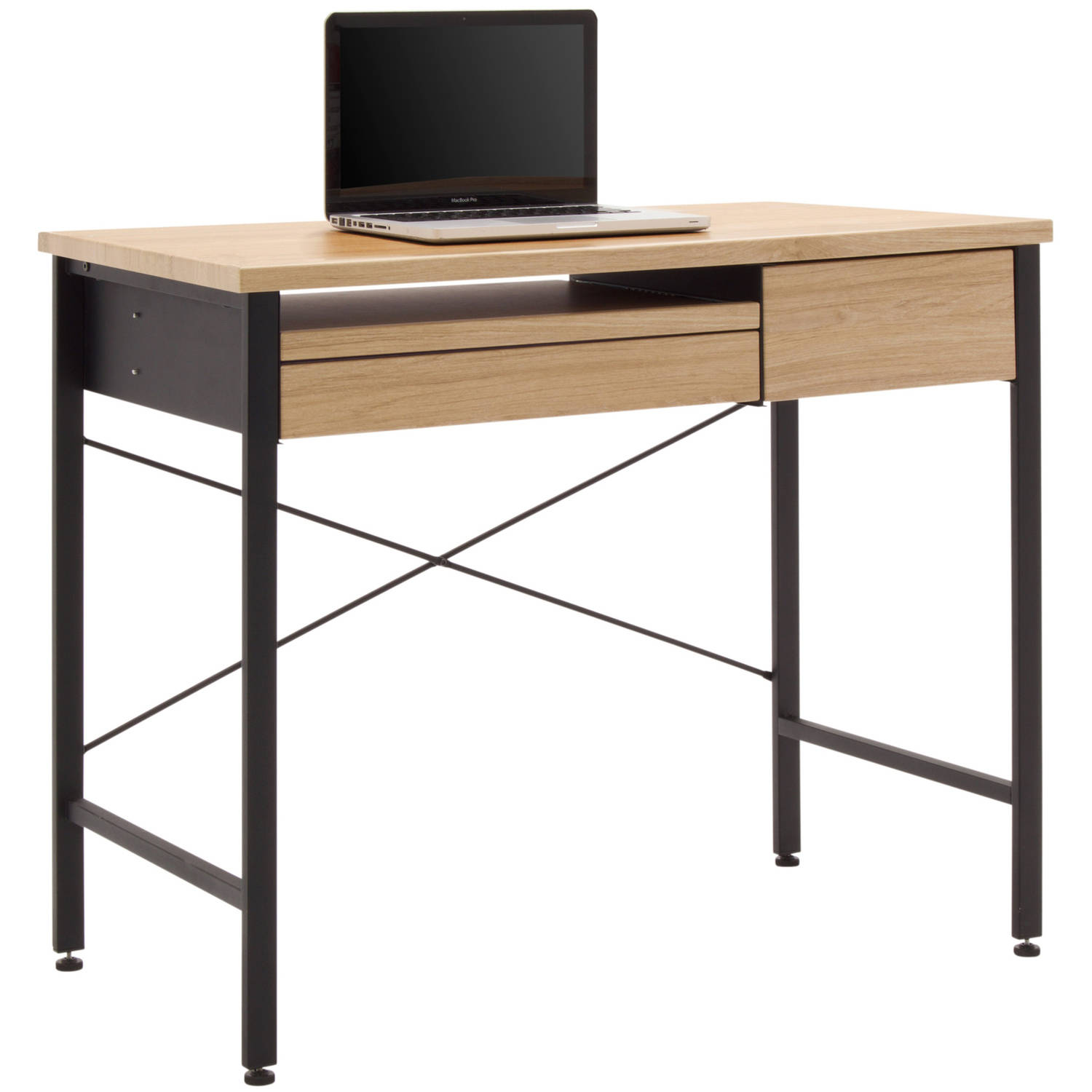 Calico Designs Ashwood Compact Desk, Ashwood/Graphite