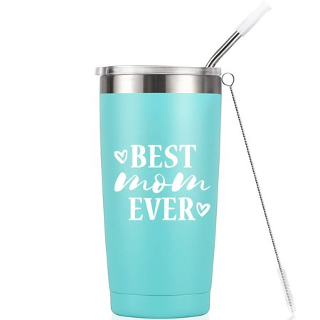 Best Mom Ever | Birthday Mug Tumbler | 20 Oz Vacuum-Insulated Stainless Steel Mug Tumbler with Lid, Birthday Gift for Her Mom Women Ladies Best Mom