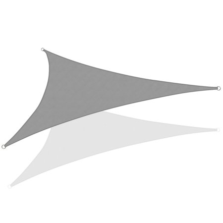 Triangle Sun Shade Sail 20 X 20 X 20 Ft Uv Block Fabric Grey