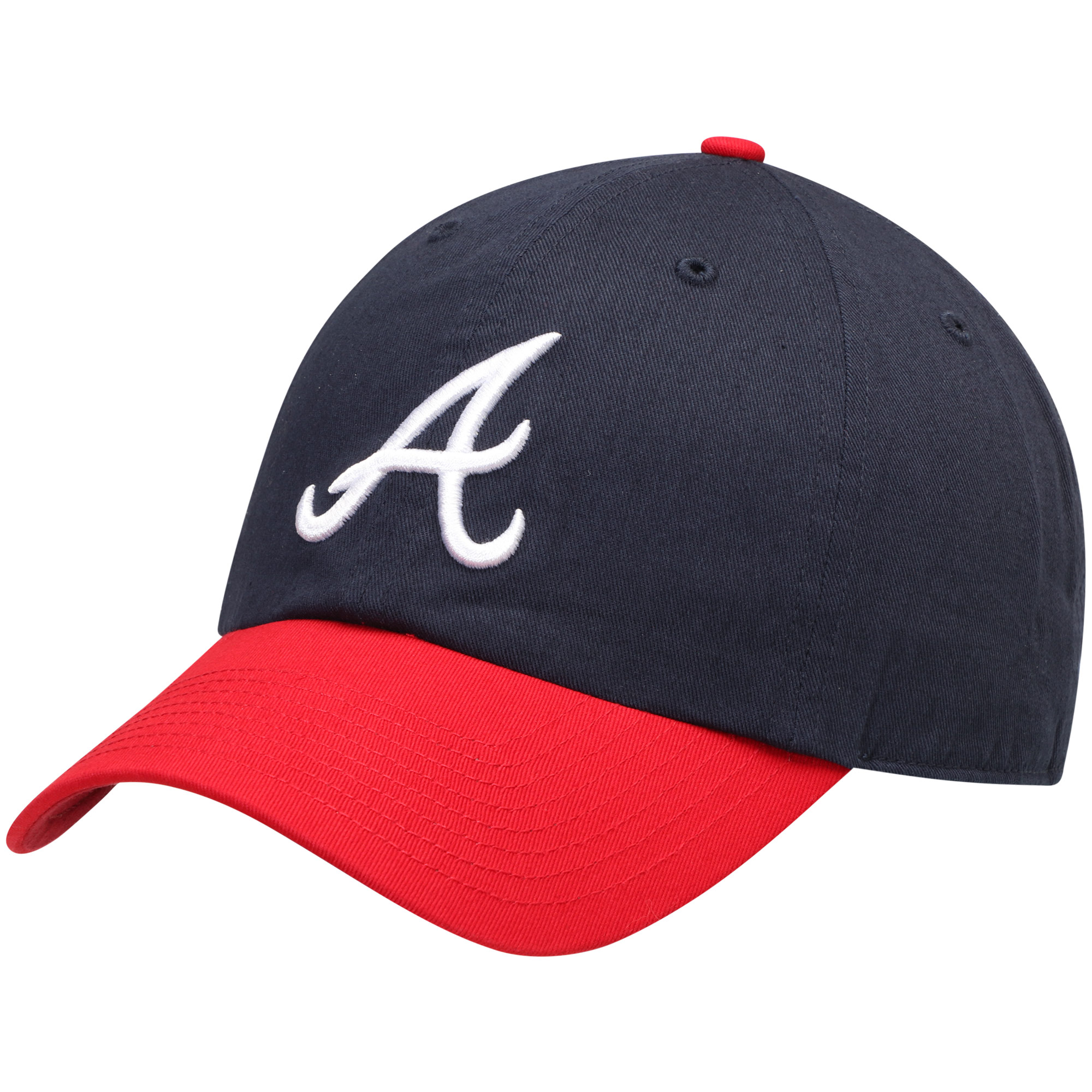 Atlanta Braves Fan Favorite Primary Logo Clean Up Adjustable Hat - Navy - OSFA