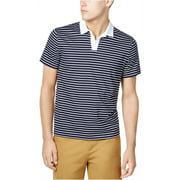 Tommy Hilfiger Mens Custom-Fit Stripe Rugby Polo Shirt