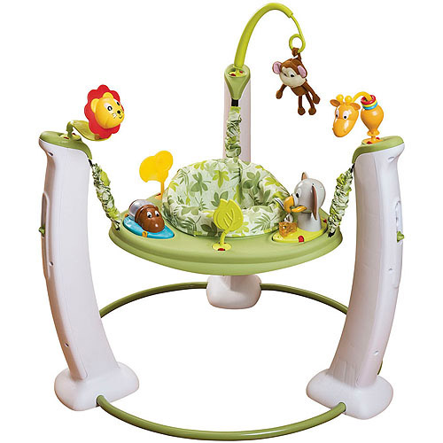 Evenflo ExerSaucer Jump & Learn Stationary Jumper, Wild Life Adventure