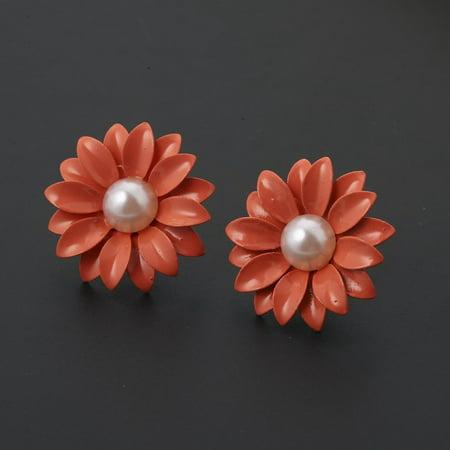 Korean Style Jewel Pearl Daisy Flower Ear Nail Earrings Women Jewelry - image 6 of 6