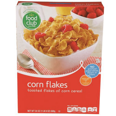 Food Club, Corn Flakes, Toasted Flakes Of Corn