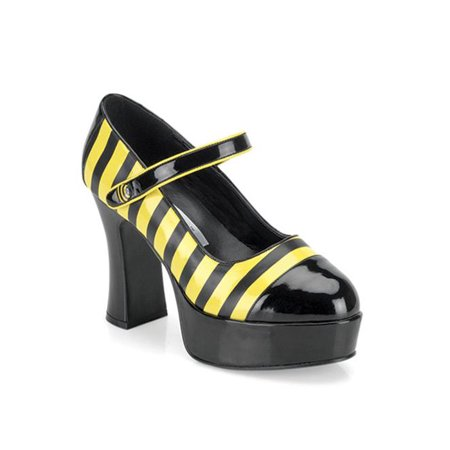 Sexy Bee Stinger Adult Platform Mary Jane Shoes for $<!---->