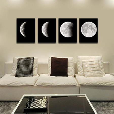 Modern Art Oil Painting Wall Sticker,Fheaven 4PCS Framed Modern Art Print on Canvas Home Wall Decor Poster Abstract The - Framed Art Oil Painting