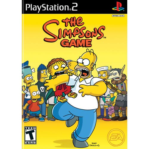 The Simpsons Game w/ Exclusive Neverquest Poster (PS2)
