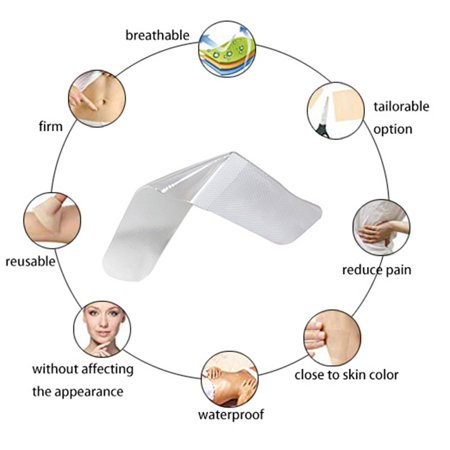 Silicone Gel Sheets for Scars Single Sheet Scar Cover Medical Grade Scar Treatment Prevents Keloid Hypertrophic Scarring - image 1 of 9