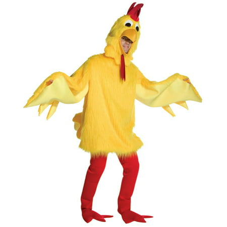 Fuzzy Chicken Adult Halloween Costume - One Size