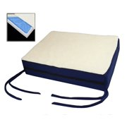 Premium Comfy Orthopedic Gel Memory Foam Seat Cushion Pad For Office Chair , Car , Wheelchair & More With Chair Ties