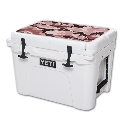 MightySkins Protective Vinyl Skin Decal for YETI Tundra 35 qt Cooler Lid wrap cover sticker skins Brown Camo