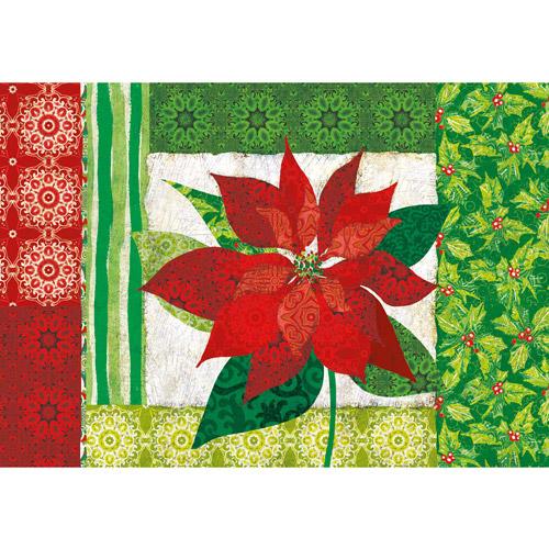 Lang Paper Poinsettia Petite Christmas Cards