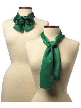 8x45 Solid Color Silk Scarf - Kelly