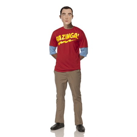 Amy Big Bang Theory Halloween (THE BIG BANG THEORY SHELDON'S BAZINGA ADULT MENS)
