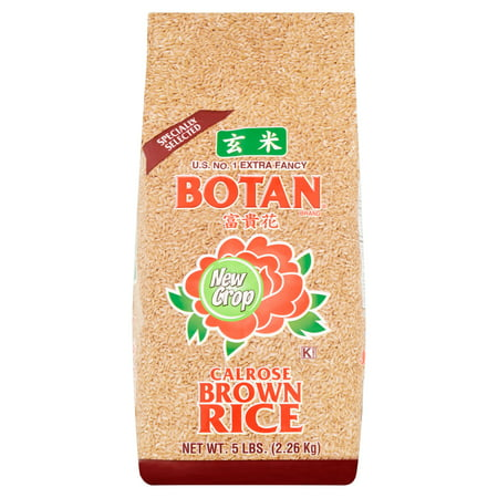 5 Lb Package - Botan Calrose Brown Rice, 5 lb