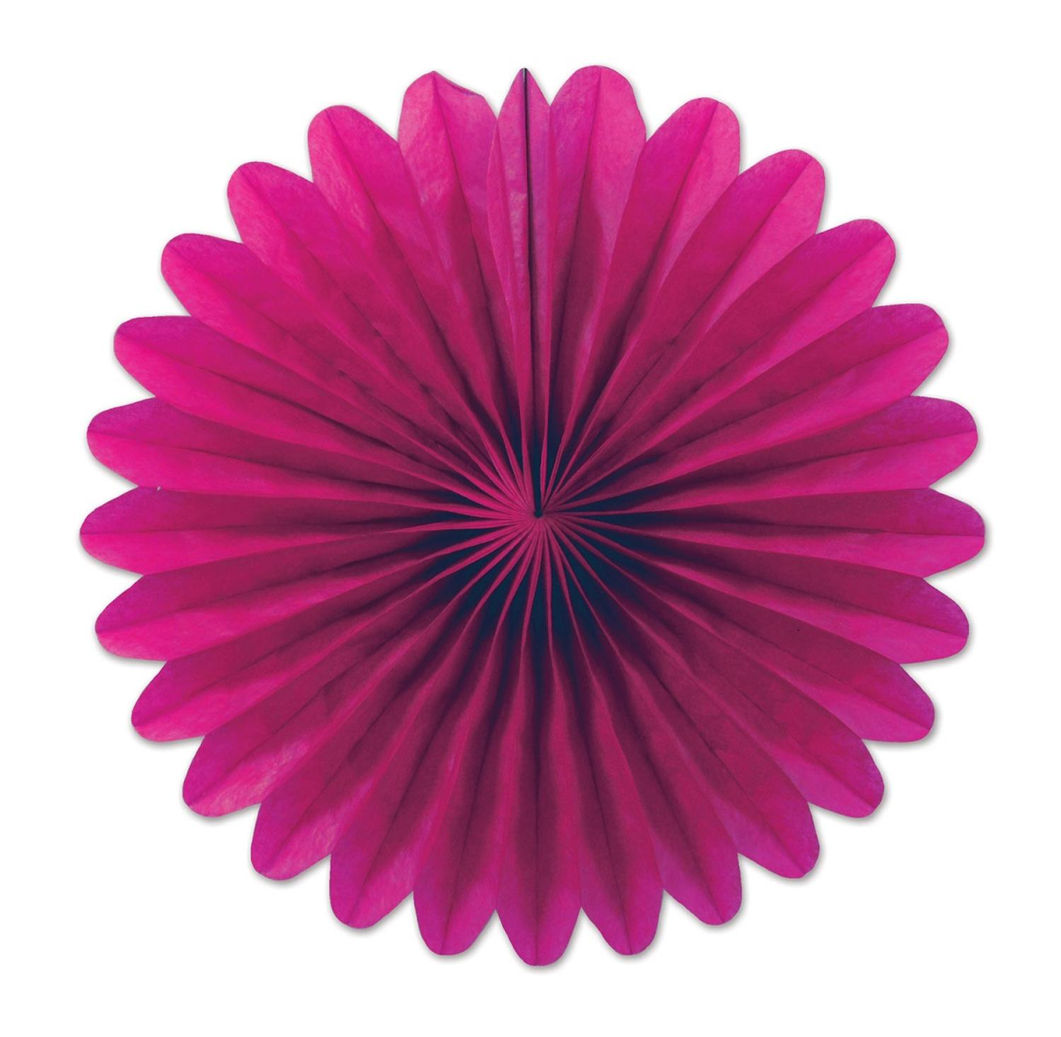 Club Pack of 72 Cerise Pink Miniature Tissue Paper Fan Hanging Party Decorations 6""