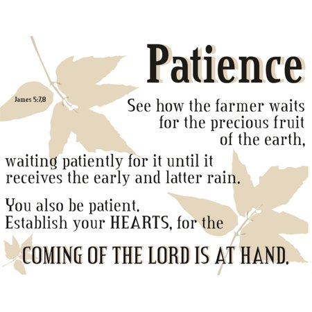 Patience How The Farmer Waits   God Christ Bible Quote Picture Art James 5 7 Sticker Vinyl Wall Decal 16 X 24 Inches