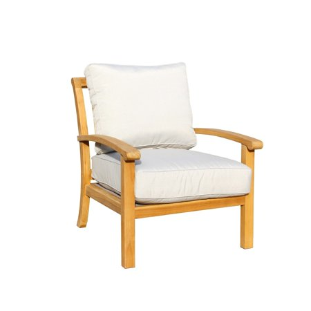 - Courtyard Casual Natural Teak Heritage Outdoor Teak Lounge Chair