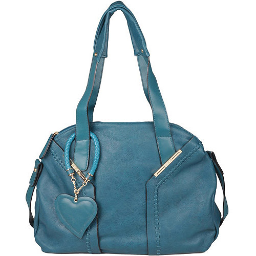 Brinley Co Womens Topstiched Double Handle Satchel