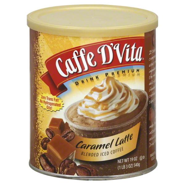 Caffe D'vita Caramel Latte Blended Iced Coffee, 19 Oz
