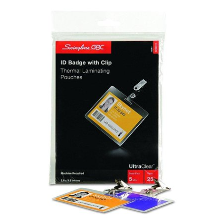 Swingline Gbc Ultraclear Thermal Laminating Pouches Badge