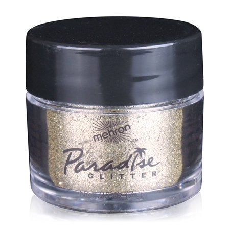 Mehron Makeup Paradise AQ Glitter Face and Body Paint, GOLD -