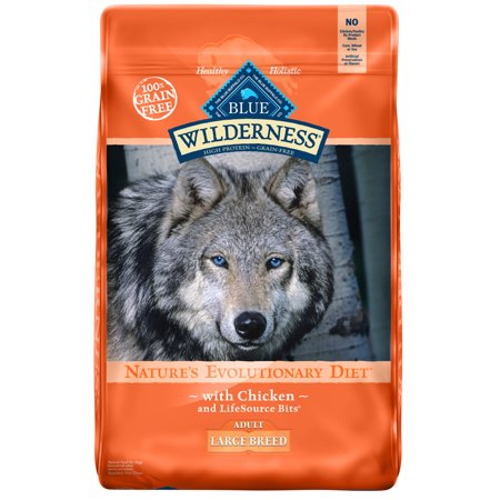 Blue Buffalo Wilderness Chicken High Protein Large Breed Adult Dry Dog Food, 24-lb