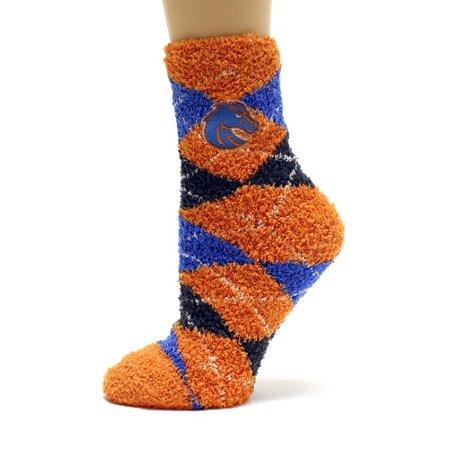 Pattern Womens Argyle Sock (Boise State Broncos Argyle Fuzyy Sock)