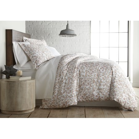Forevermore Collection 100-percent Cotton Sateen Printed Duvet Cover Set