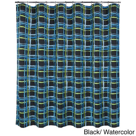 Park B Smith Wavy Plaid Watershed Shower Curtain