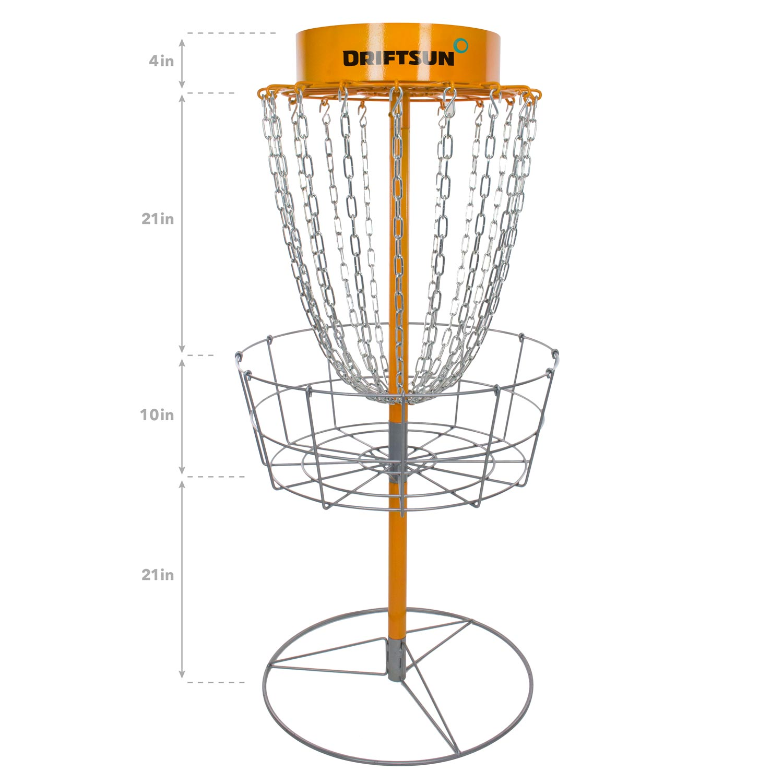 Driftsun Typhoon Disc Golf Basket Portable Heavy Duty Disc Golf Practice Target by Drift Sun