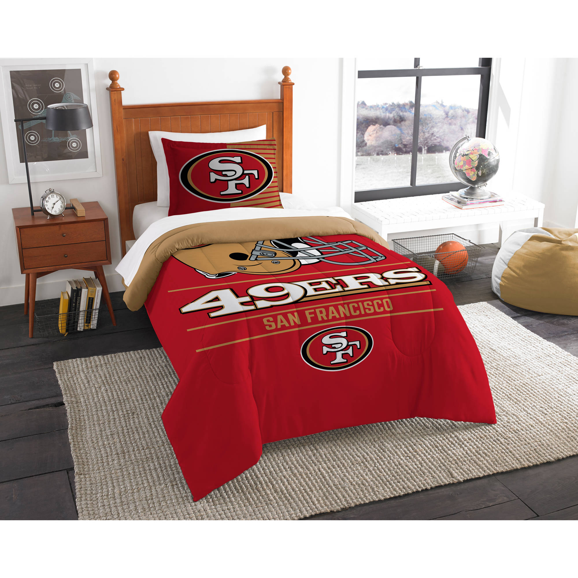 "NFL San Francisco 49ers ""Draft"" Bedding Comforter Set"