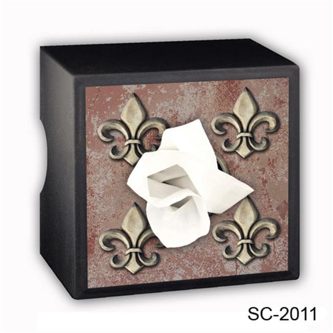 Caravelle Designs SC-2011 Fleurs de Lis Square Tissue Boxes
